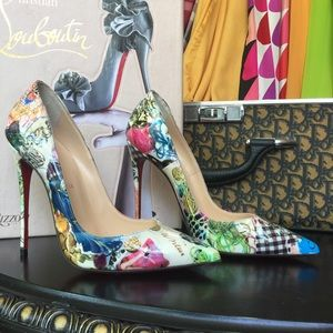 Louboutin So Kate Multicolored Patent Pumps